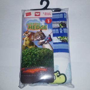 Hanes DreamWorks Over the hedge size 8 boys briefs